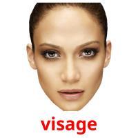visage picture flashcards