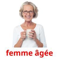 femme âgée picture flashcards