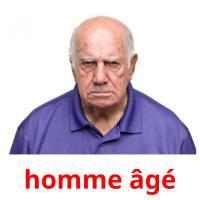 homme âgé picture flashcards