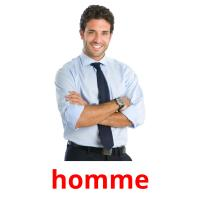 homme picture flashcards