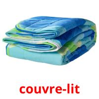 couvre-lit picture flashcards
