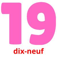 dix-neuf picture flashcards