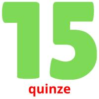 quinze picture flashcards