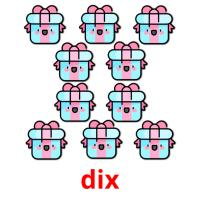 dix picture flashcards