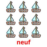 neuf picture flashcards