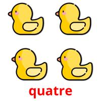 quatre picture flashcards
