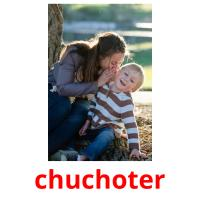 chuchoter picture flashcards