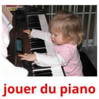 jouer du piano picture flashcards