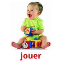 jouer picture flashcards