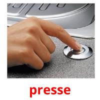 presse picture flashcards