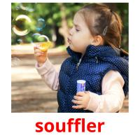 souffler picture flashcards