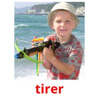 tirer picture flashcards