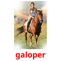 galoper picture flashcards