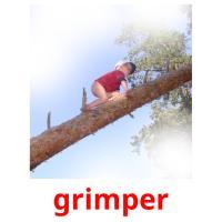 grimper picture flashcards
