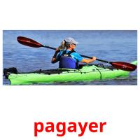 pagayer picture flashcards