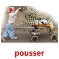 pousser picture flashcards