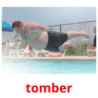 tomber picture flashcards