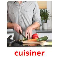 cuisiner picture flashcards