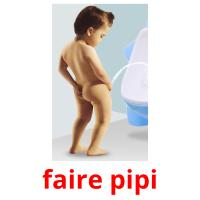 faire pipi picture flashcards