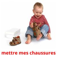 mettre mes chaussures picture flashcards