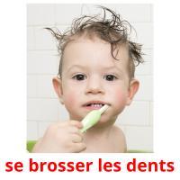 se brosser les dents picture flashcards