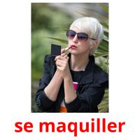 se maquiller picture flashcards