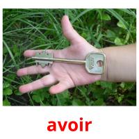 avoir picture flashcards