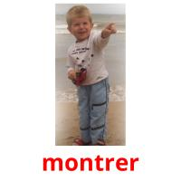 montrer picture flashcards