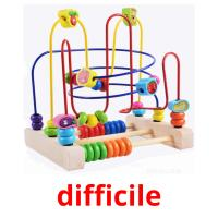 difficile picture flashcards