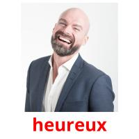 heureux picture flashcards