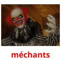 méchants picture flashcards