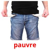 pauvre picture flashcards