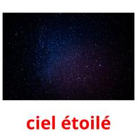 ciel étoilé picture flashcards
