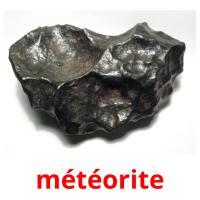 météorite picture flashcards