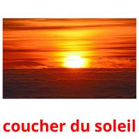 coucher du soleil card for translate