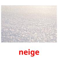 neige picture flashcards