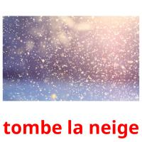 tombe la neige picture flashcards