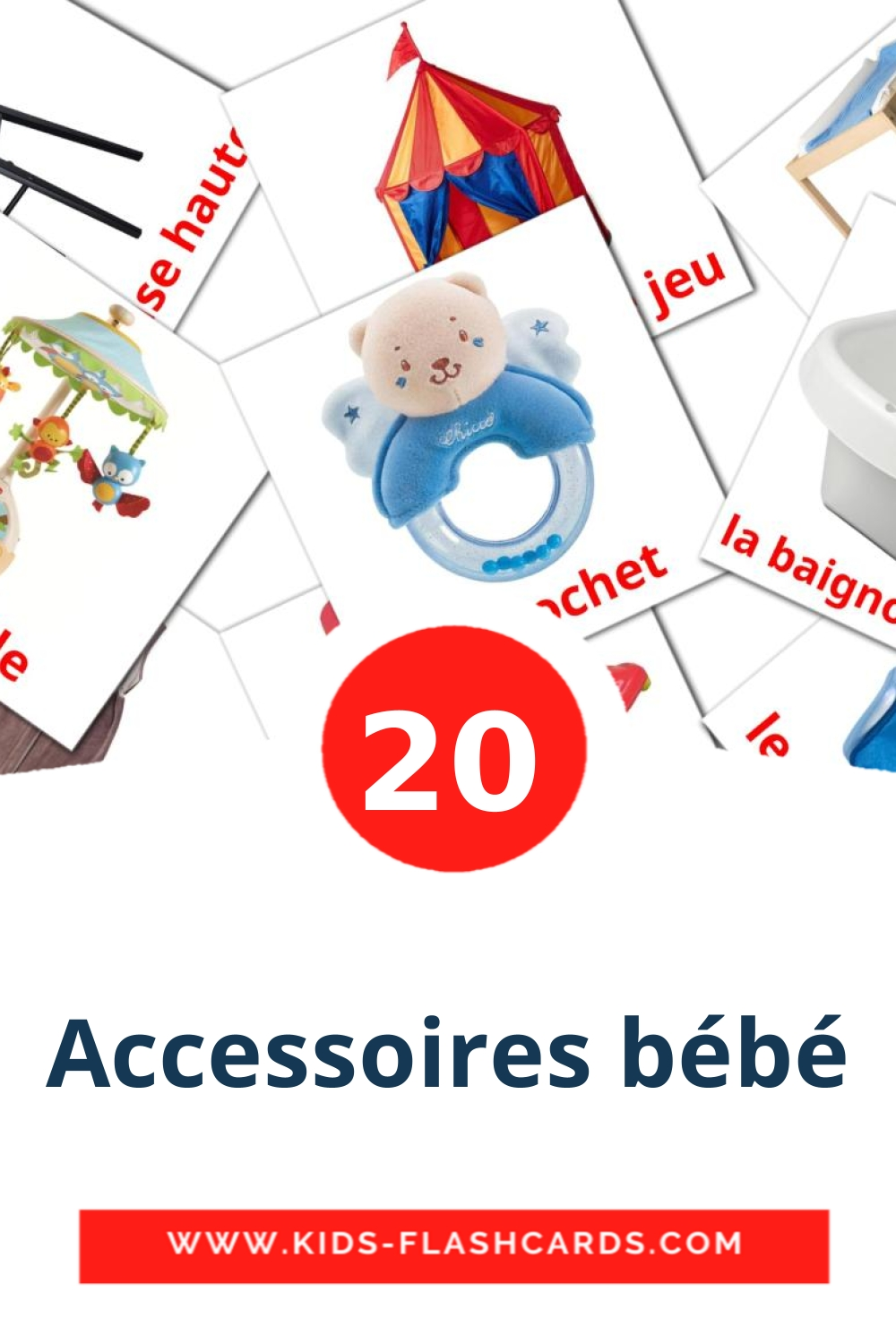 20 Mes Affaires Picture Cards for Kindergarden in french