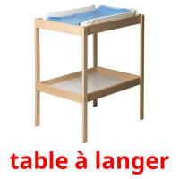 table à langer picture flashcards