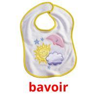 bavoir picture flashcards