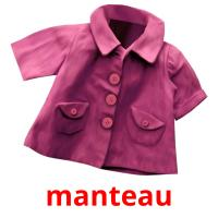 manteau picture flashcards