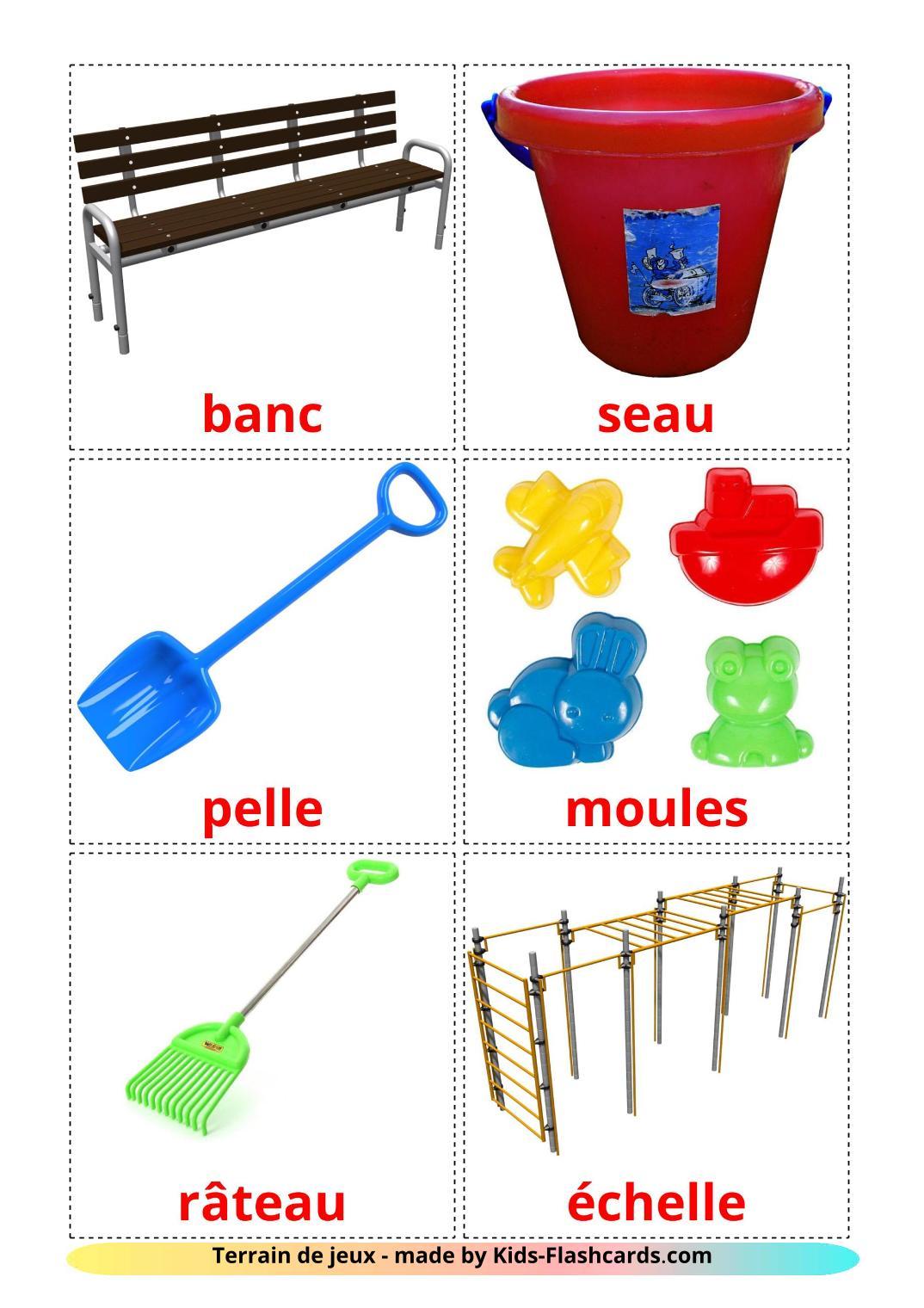 Playground - 13 Free Printable french Flashcards