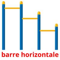 barre horizontale picture flashcards