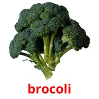 brocoli picture flashcards