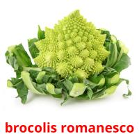 brocolis romanesco picture flashcards