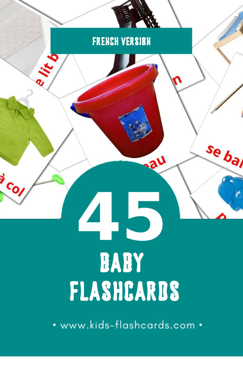 Visual Le Petit  Flashcards for Toddlers (32 cards in French)