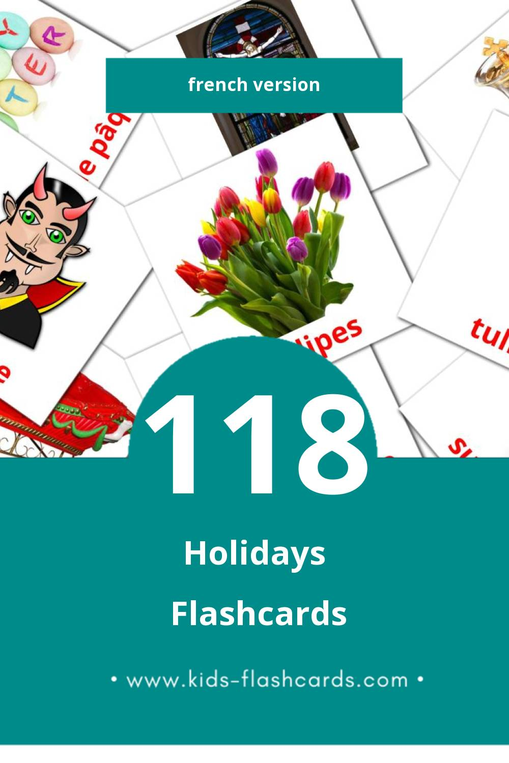Visual Vacances Flashcards for Toddlers (87 cards in French)
