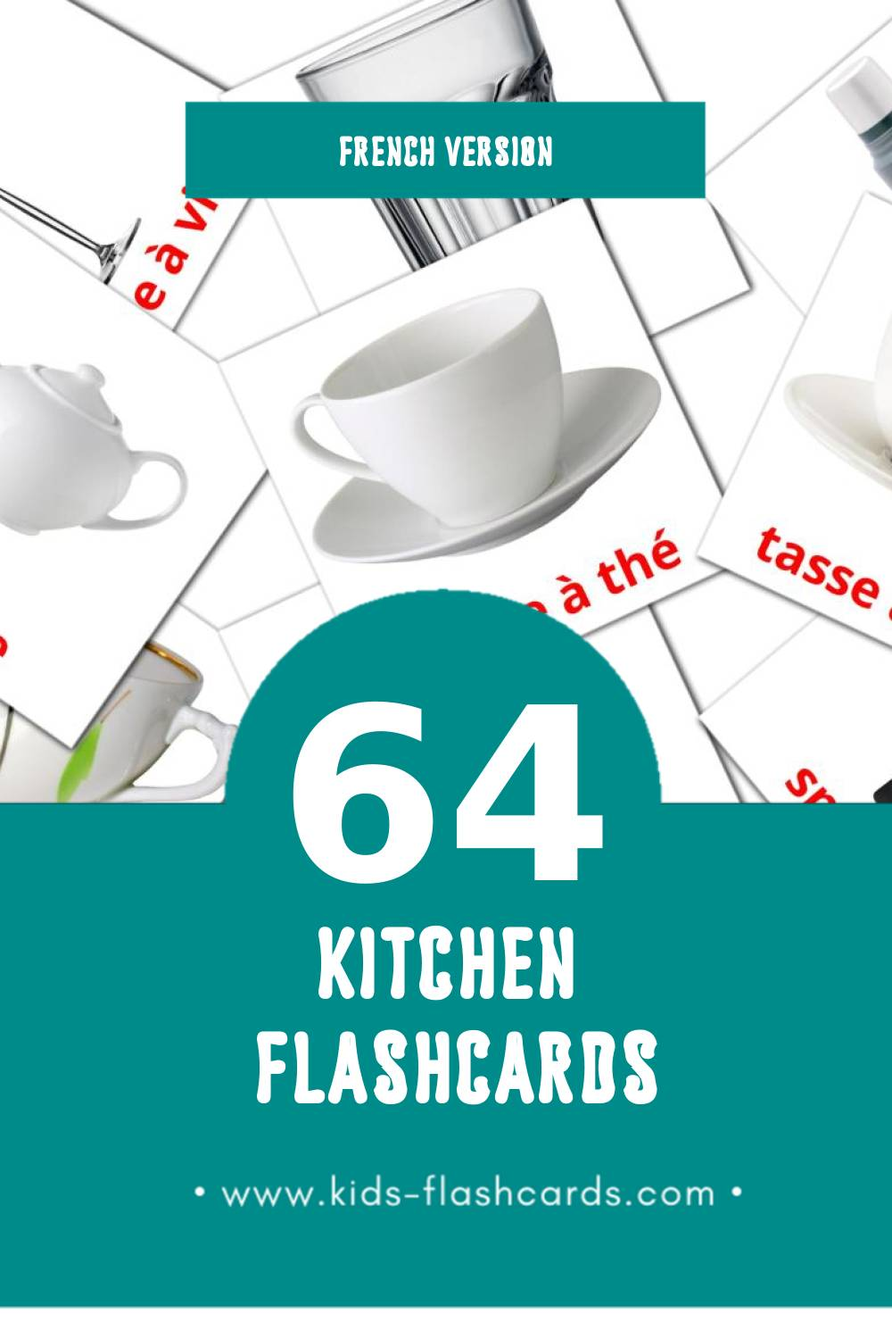 Visual cuisine Flashcards for Toddlers (29 cards in French)