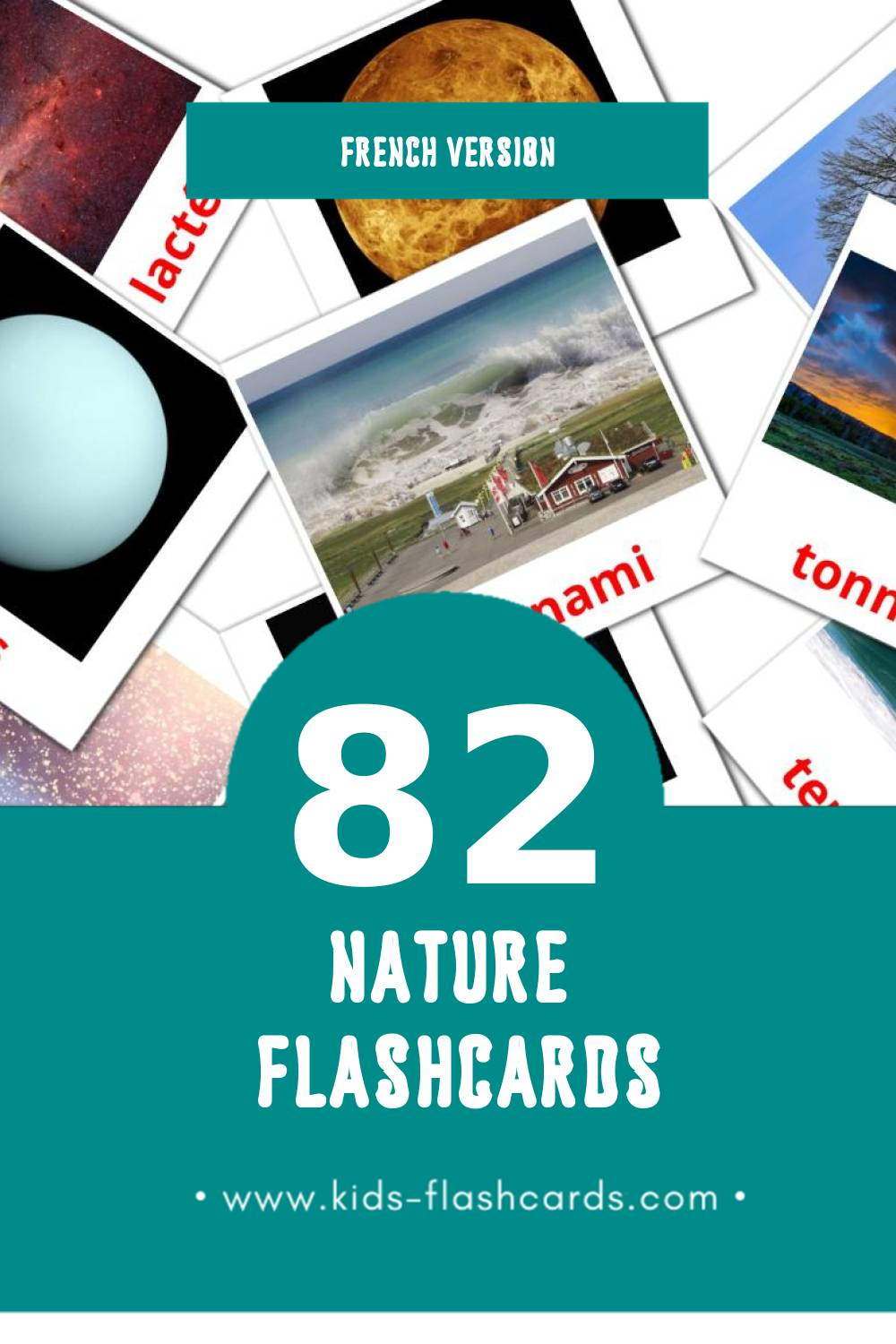 Visual Système solaire Flashcards for Toddlers (51 cards in French)