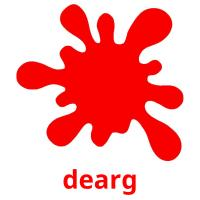 dearg picture flashcards